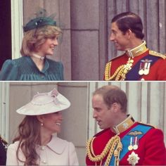 Trooping the Colour 1982 / 2013. Both Diana and Kate were expecting their first child.