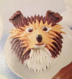 Sheltie cake!  Stole this from sheltie rescue!