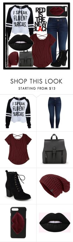 """Casual Fall Day 🍂"" by fionna-marshall-lee ❤ liked on Polyvore featuring KUT from the Kloth, Hollister Co., Journee Collection, Kendall + Kylie and NYX"
