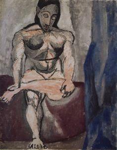 Nu assis Paris hiver 1906-07, huile sur toile 121 x 93 cm Musée Picasso Paris.