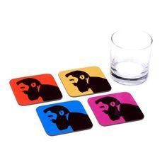 Theoder Herzl Coasters - Set of 4 Coasters - ofek wertman jewish gifts & Israeli Gifts Jewish Gifts, Coaster Set, How To Make
