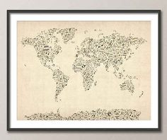 music notes map ......