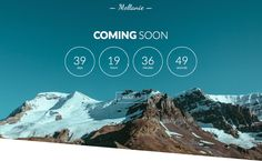 MELLANIE is a simple, minimalistic, responsive coming soon and under conctruction page.
