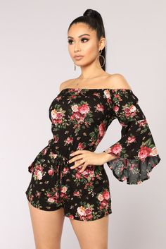 Rompers & Jumpsuits for women - Affordable Shopping Online – 4 Floral Dress Outfits, Red Midi Dress, Girly Outfits, Floral Romper, Sexy Outfits, Summer Outfits, Cute Outfits, Fashion Outfits, Romper Outfit