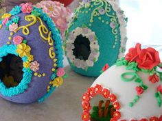 A sampling of the many panoramic sugar eggs decorated at the Decker home 2011 ThisLife