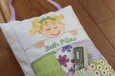 Items similar to Custom Monogrammed Purple Quilted Girl Tooth Fairy Pillow-Choose Hair Color on Etsy Home Furnishing Accessories, Purple Quilts, Tooth Fairy Pillow, Teeth, Monogram, Decorating, Pillows, Trending Outfits, Unique Jewelry