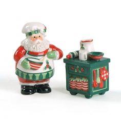 Santa's Kitchen Salt & Pepper Shakers