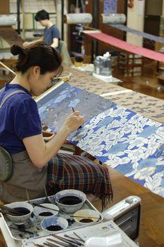 Hannah Nunn: Stencil Dying in Kyoto