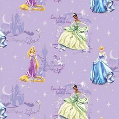 Springs Creative Fabric Disney Princess Listen To Your Heart Pink HALF METRE