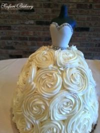 Wedding dress cake, perfect for bridal showers!