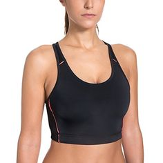 eshion ESHION Women Round Neck Padded Contrast Color Exercise Fitness Yoga Sports Bra