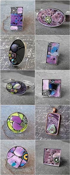 Mosaic jewelry - purple | Flickr - Photo Sharing!