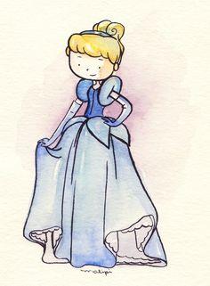 Cinderella (Drawing by JustLia.com) #Cinderella