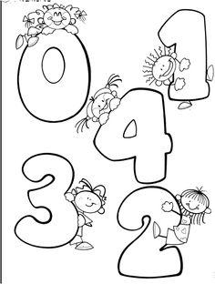 TE CUENTO UN CUENTO: Números del 0 al 9 para colorear