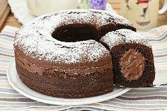 Ciambella panna e Nutella Mini Desserts, Sweet Desserts, Sweet Recipes, Delicious Desserts, Cake Recipes, Yummy Food, Nutella Cookies, Cake Cookies, Crepes
