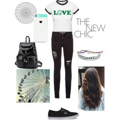 lucky love ♡ by loverofeverything8infinite on Polyvore featuring polyvore fashion style Vans BeiBaoBao BlissfulCASE