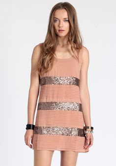 Sequin Glam Chiffon Dress from Threadsence. love the sparkle!
