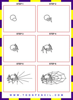 how to draw spider - Google Search