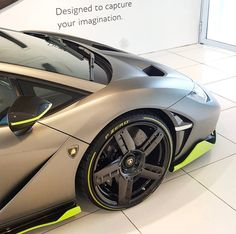 Lamborghini Centenario Roadster painted in Grigio Titans w/ Verde Scandal accents  Photo taken by: @j.b_photography on Instagram