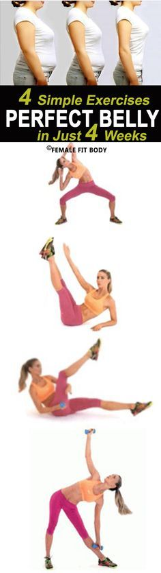 4 Simple Exercises to Get the Perfect Belly in Just 4 Weeks