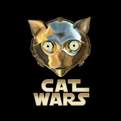 Cat Wars C3PO Art Print