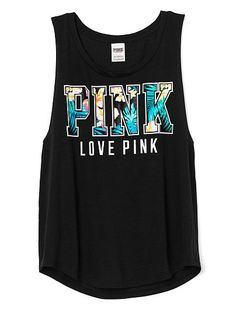 Boyfriend Tank PINK  . Looks super comfy and cute, great for the summer
