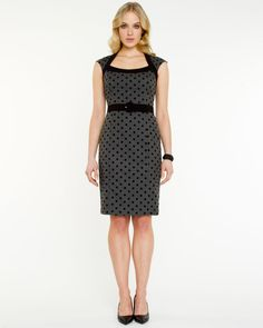$169.95 Le Château: Polka Dot Shift Dress  # work office teaching outfit look
