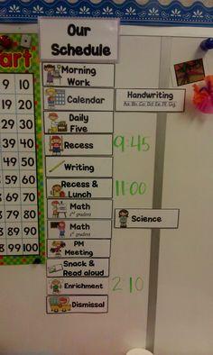 cute schedule display