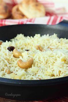 Arroz hindú Going Vegetarian, Vegetarian Recipes, Healthy Recipes, Rice Recipes, Mexican Food Recipes, Cooking Recipes, Couscous, Arroz Biro Biro, Hindu Food