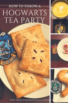 How To Throw a Harry Potter Hogwarts Tea Party ~ Simply Inspired Meals Harry Potter Snacks, Harry Potter Bday, Harry Potter Christmas, Harry Potter Recipes, Biscuits, Food Themes, High Tea, Afternoon Tea, Food Inspiration