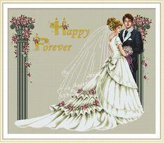 Free Wedding X Stitch Patterns   cross stitch kit wedding 11CT-in Crafts from Home & Garden on ...