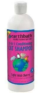 Earthbath Cat 2-IN-1 Conditioning Shampoo, Light Wild Cherry Essence, 16 oz. Earthbath Cat 2-IN-1 Conditioning Shampoo, Light Wild Cherry Essence, 16 oz