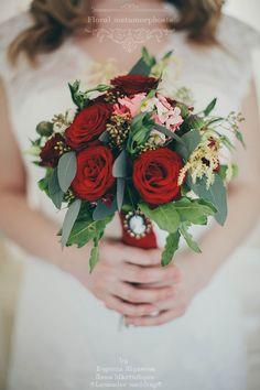 букет невесты с розами #bride #flowers