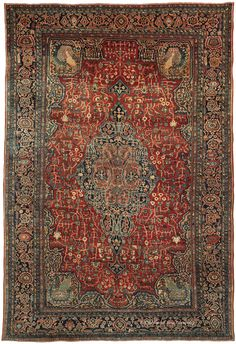 FERAHAN SAROUK, West Central Persian 8ft 10in x 12ft 8in Late 19th Century
