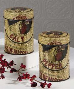 Love this Feed Sack Salt & Pepper Shaker Set by Ohio Wholesale, Inc. on #zulily! #zulilyfinds