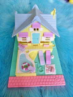 Vintage Retro 1993 80s 90s Polly Pocket Summer House Pollyville Toy