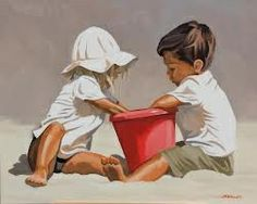 Painting People, Figure Painting, Watercolor Pictures, Watercolor Paintings, Beach Scenes, French Art, Beautiful Paintings, Art Oil, Lovers Art