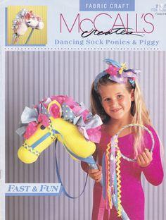Vintage McCall's Creates Sock Pony HOBBY HORSE Instructions Carousel Stick Horse Sock Piggy PRINCESS Wand Crown Headband. $5.00, via Etsy.