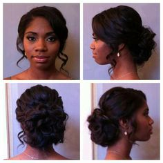 Beautiful wedding day up do hair style for black women., #beautiful #black #day #hair #style #wedding #women, #weddinghairstylesupdos