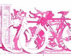 8 x 10 Print. Pink Bicyles. Color Photography.  Pink Bikes. on Etsy, $20.00