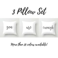 Enjoy Every Moment Pillow Set - Living Room Family Room Decor Room Wall Decor, Home Decor Bedroom, Living Room Decor, Unique Bookshelves, Family Room Decorating, Living Room Remodel, Pillow Set, Pillow Covers, Luxurious Bedrooms