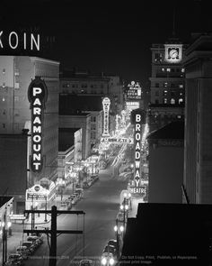 Broadway Boulevard Downtown Portland Oregon on December 14, 1948