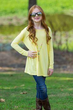 The Perfect Kids Long Sleeve Piko-Yellow