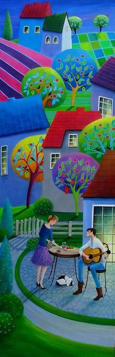 45 ideas music arte painting for kids for 2019 Pinturas Em Tom Pastel, Arte Popular, Naive Art, Colorful Paintings, Whimsical Art, Painting For Kids, Kitsch, All Art, Art Images