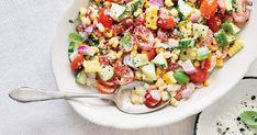 Roasted Corn Salad, Fresh Corn Salad, Fresh Salad Recipes, Corn Salads, Roasted Tomatoes, Corn Recipes, Veggie Recipes, Cooking Recipes, Healthy Recipes