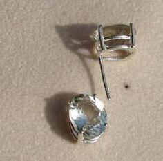 oval cut green amethyst stud earrings