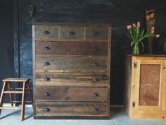 Rustic Modern Reclaimed Barn Pallet Wood Dresser Vintage