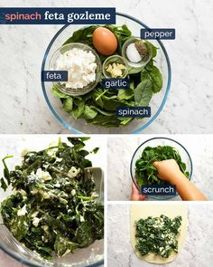 How to make Spinach Feta Gozleme Quick Recipes, Easy Dinner Recipes, Appetizer Recipes, Cooking Recipes, Appetizers, Bread Recipes, Cake Recipes, Garlic Spinach, Spinach And Feta