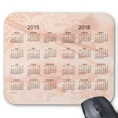 Peach Silk 2 Year 2015-2016 Calendar Mouse Pad Design from Calendars by Janz