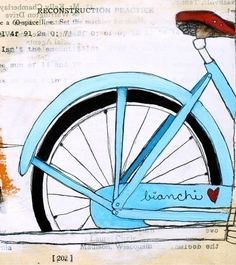 I like the bike but mostly the color. Found at Paper *Cakes Finds